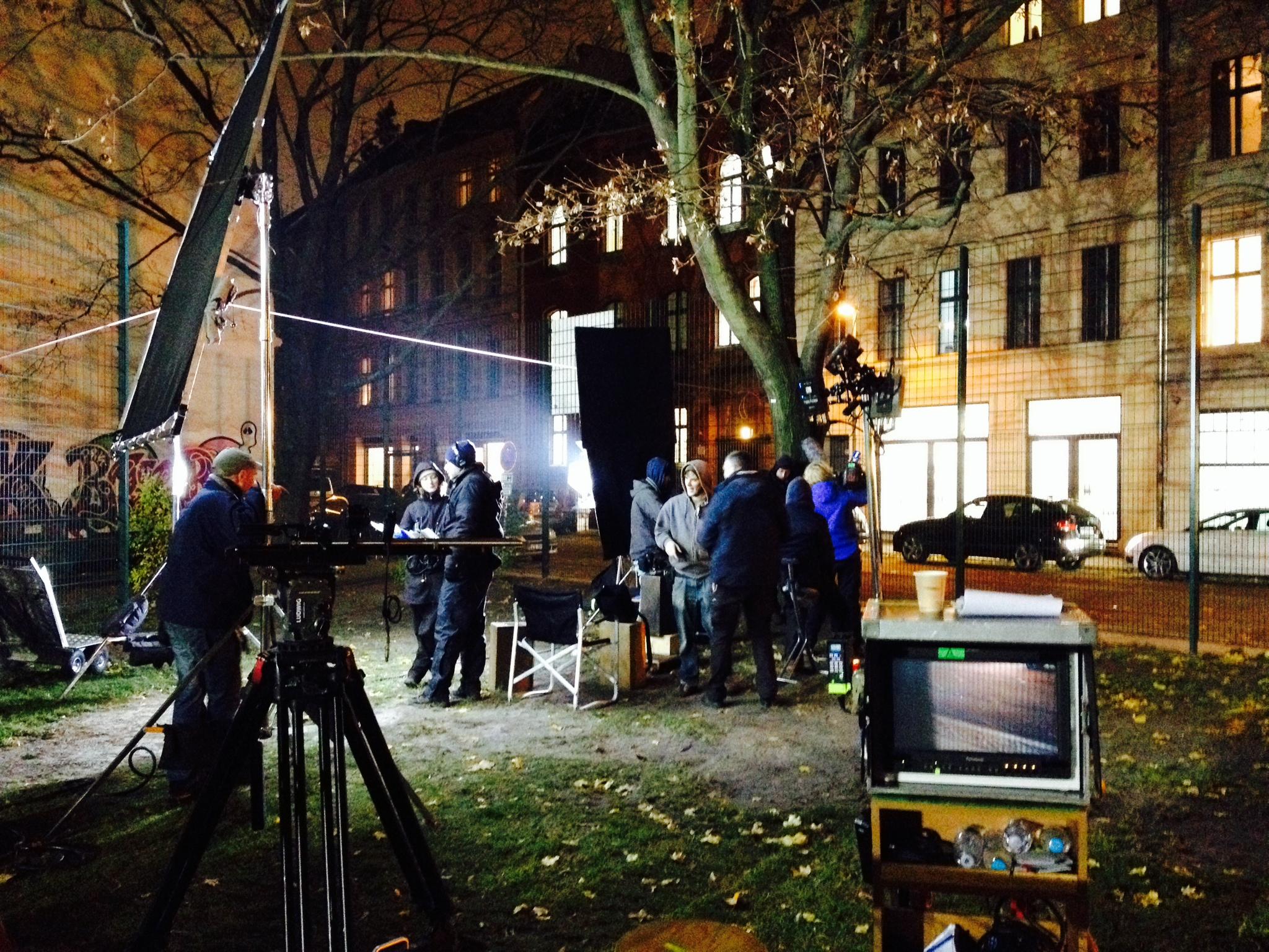 On set in Berlin