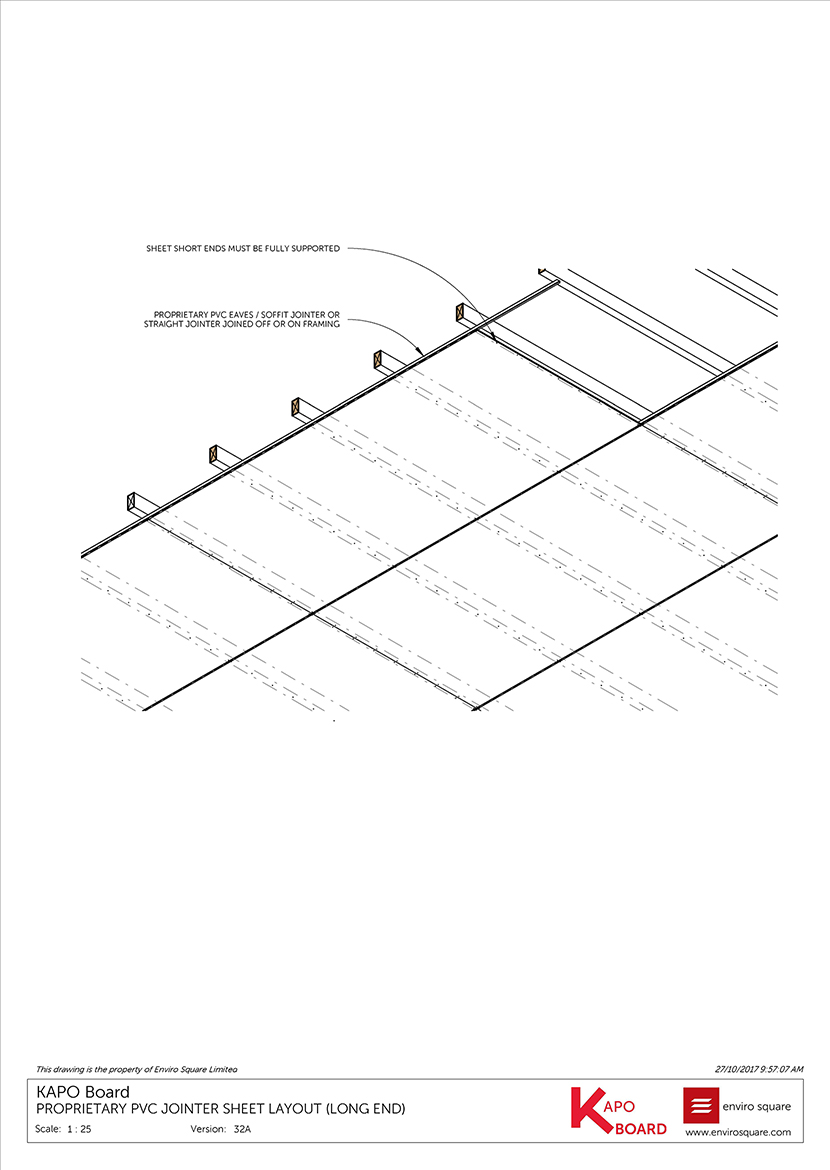 32A PVC jointer sheet layout (long end)