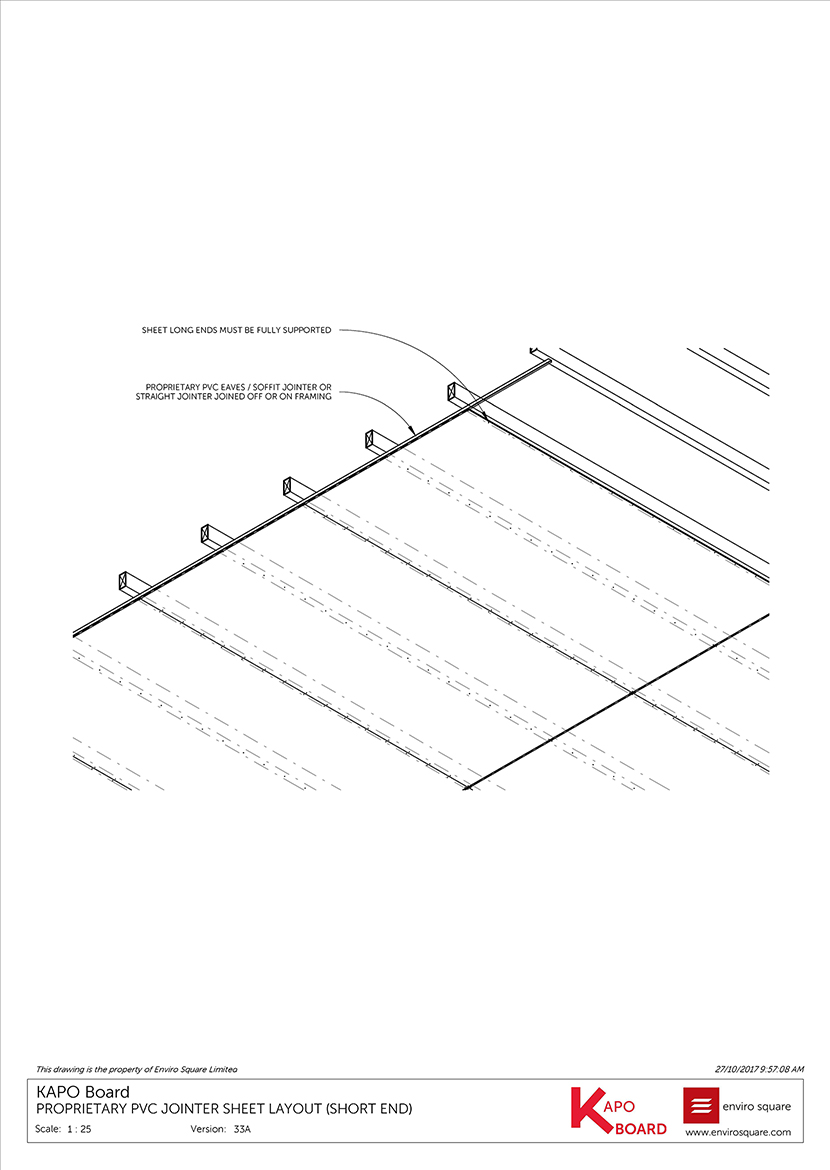 33A PVC jointer sheet layout (short end)