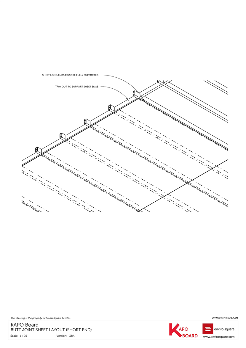 38A Butt joint sheet layout)