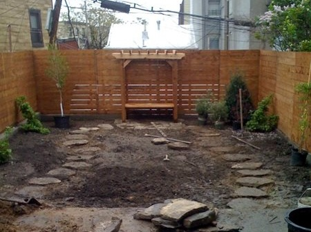 In the making of a backyard garden in Greenpoint, Brooklyn