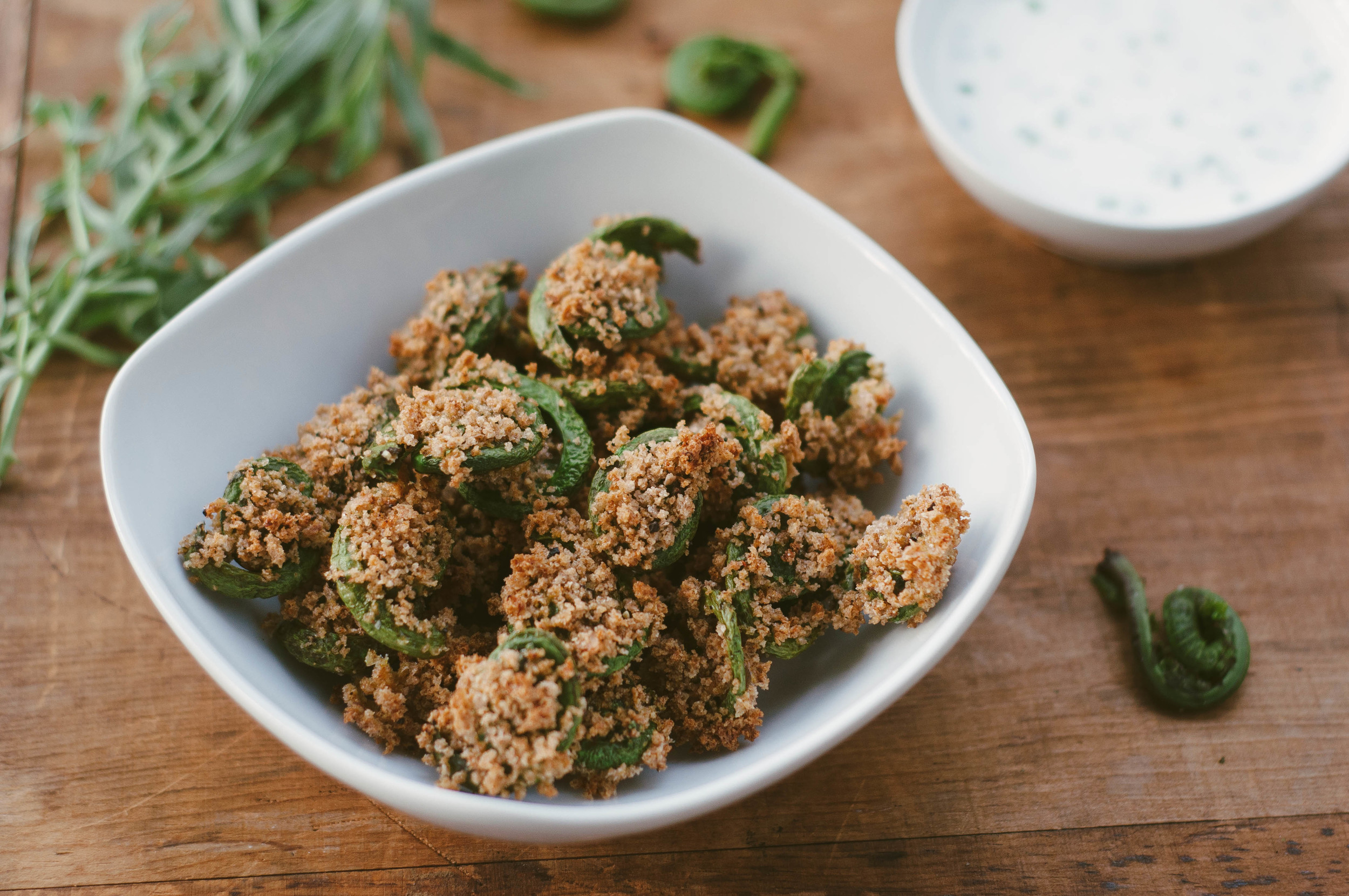 Fiddlehead Fritters    Recipe by Mandi Tompkins