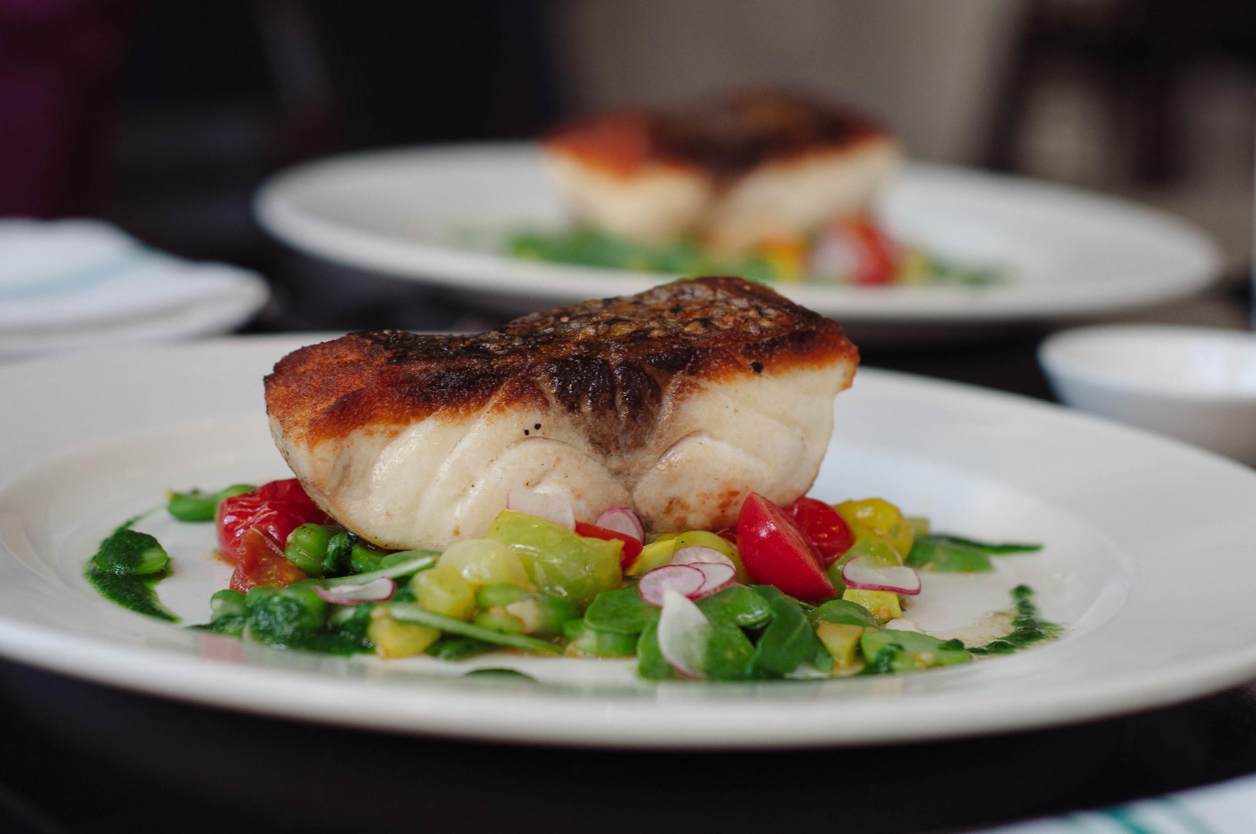 Pan Roasted Wild Striped Bass   Recipe by Chef Jeremy Sewall