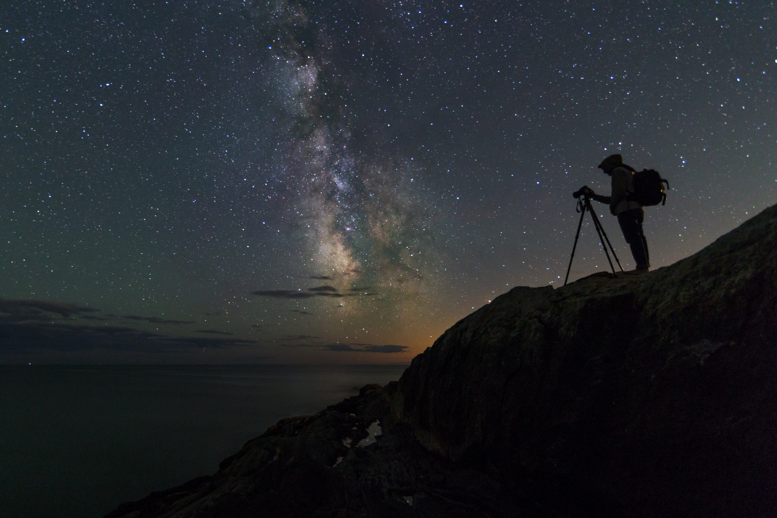 Photographing Maine's Night Sky    Story and Photos by Jon Secord