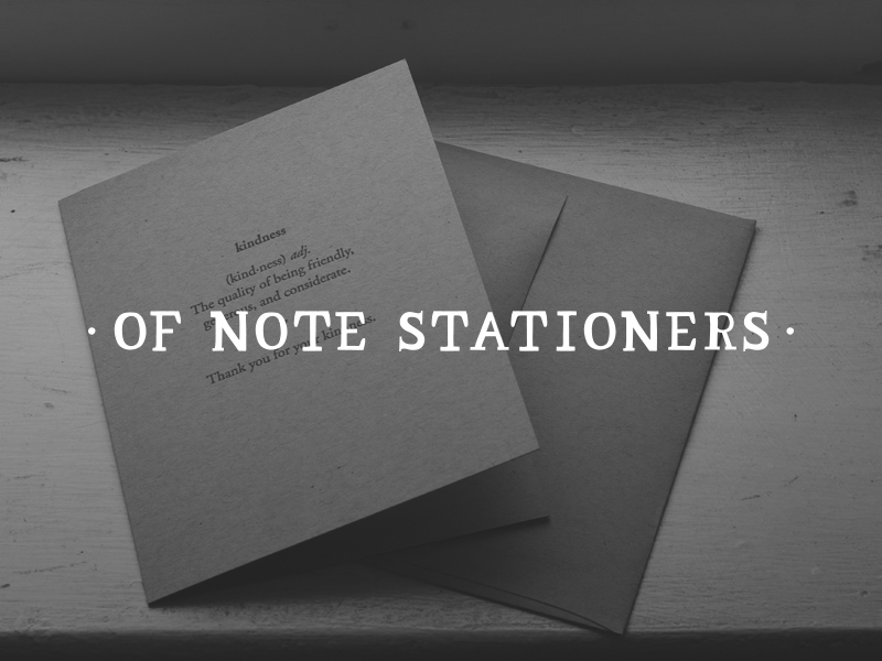 DAY 5 - OF NOTE STATIONERS