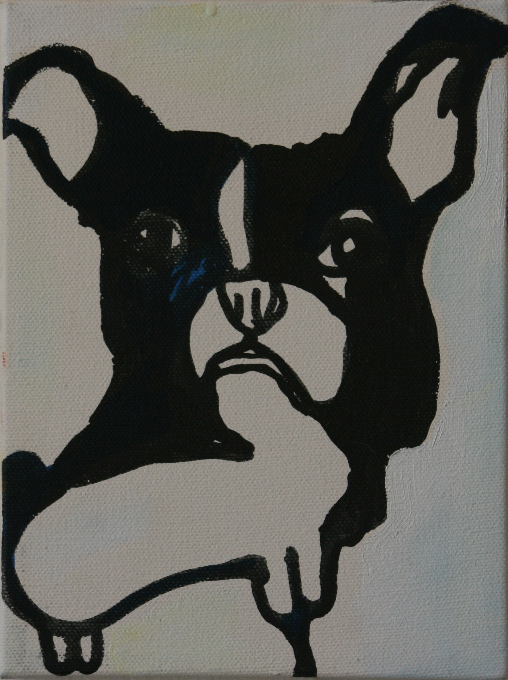 "4 Legs. 2005. Oil on Canvas. 8"" x 6"""