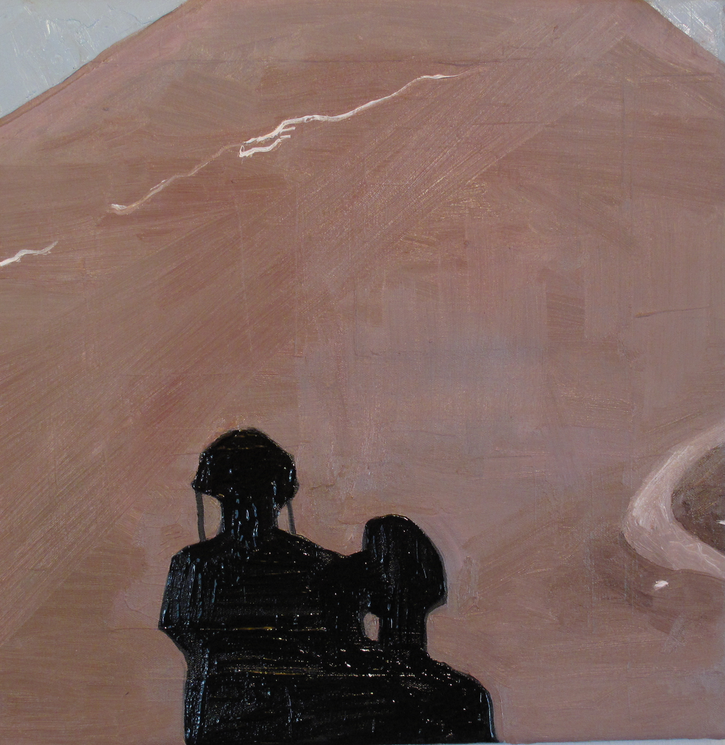 "Cindercone2. 2011. Oil on Canvas. 16"" x 16"""