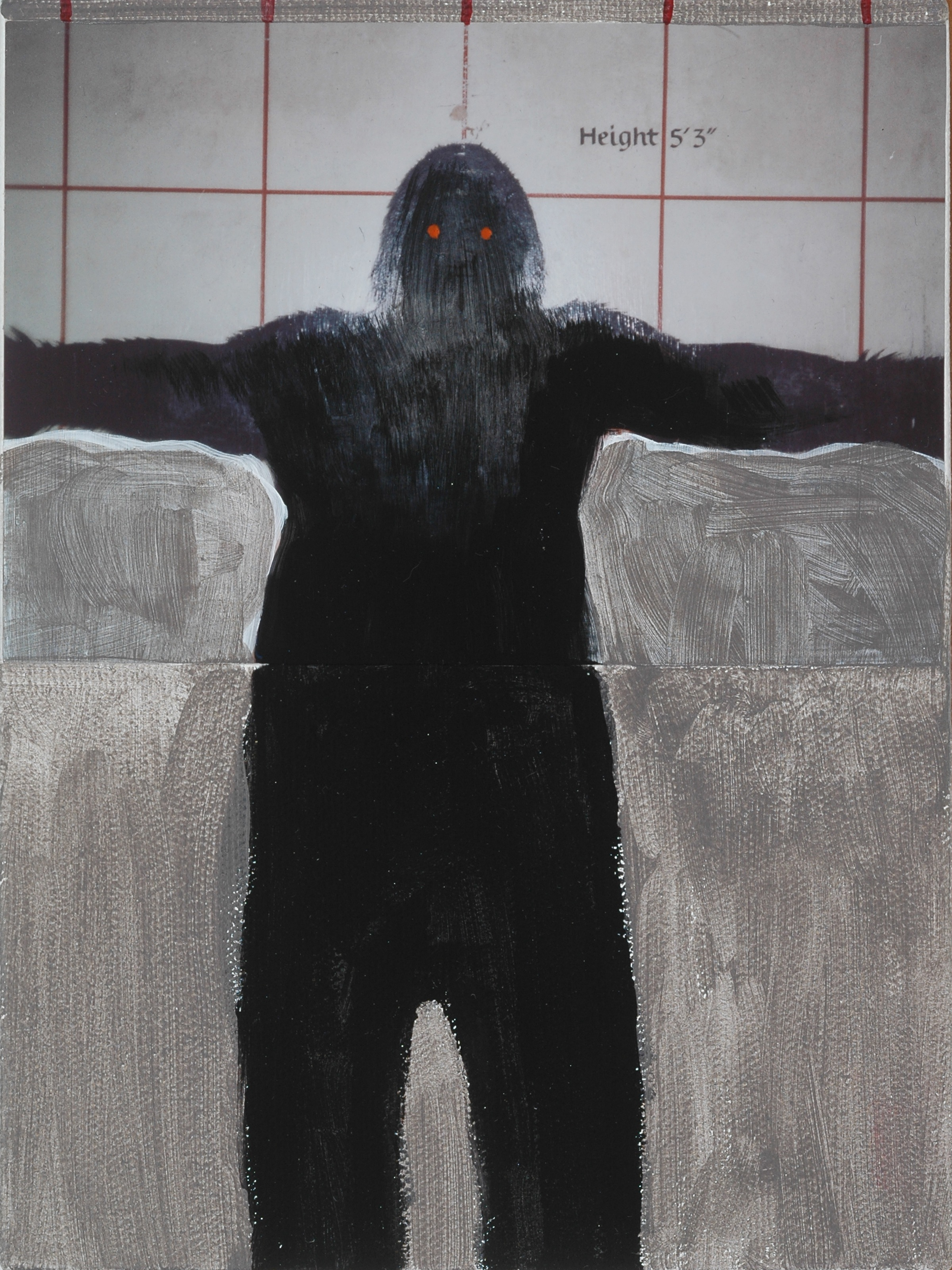 "This Tall. 2008. Mixed Media on Canvas. 8"" x 6"""