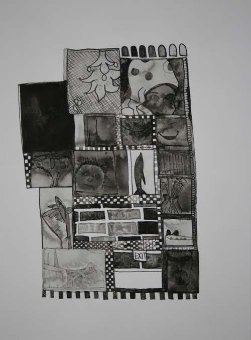 "Olive. 2007. Ink on Paper. 12"" x 9"""