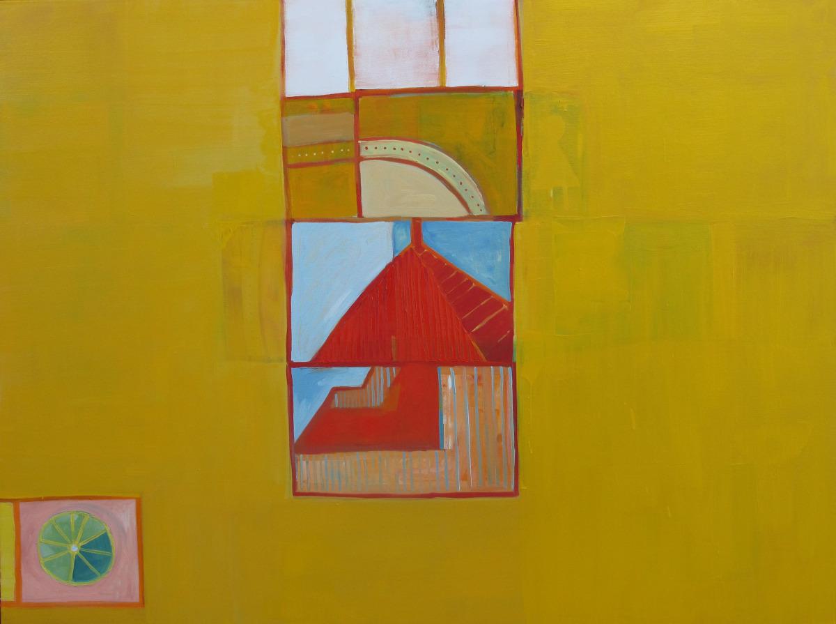 "Walk Through. 2009. Oil on Canvas. 42"" x 36"""