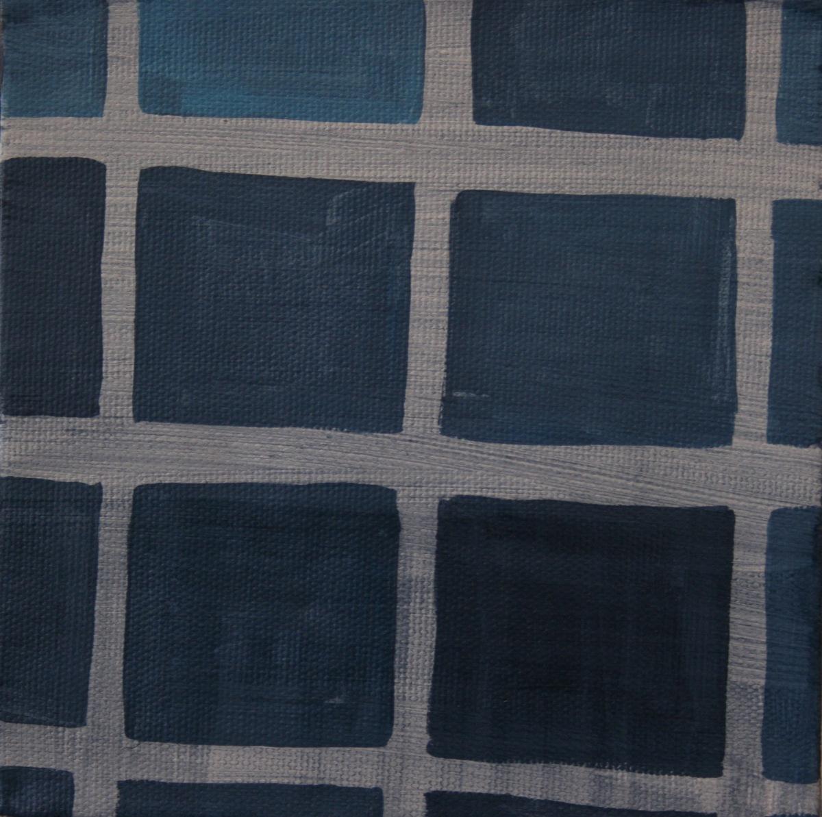 """Bathroom Tiles. 2008. Oil on Canvas. 6"""" x 6"""""""