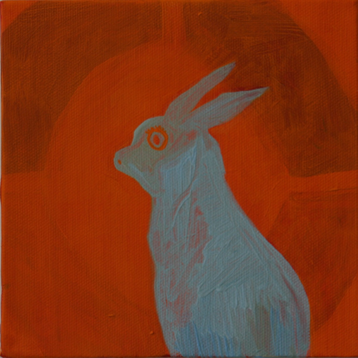 "Target. 2008. Oil on Canvas. 6"" x 6"""
