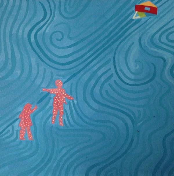 "Alameda. 2014. gouache on paper. 6"" x 6"""