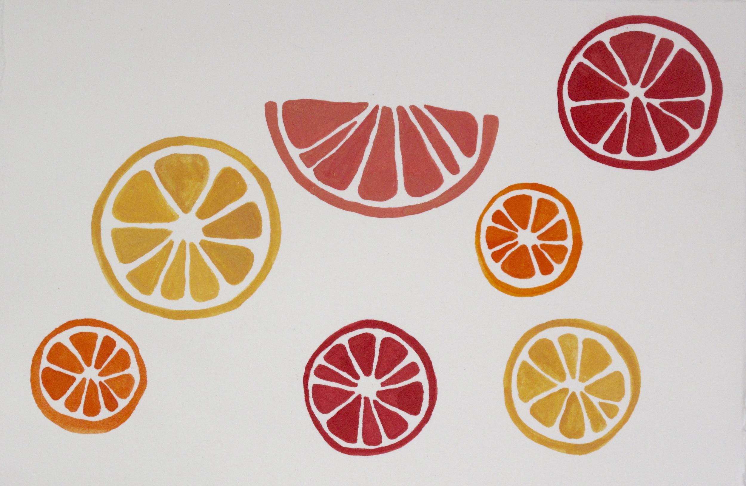 Citrus Citrus. 2015. Gouache on Paper