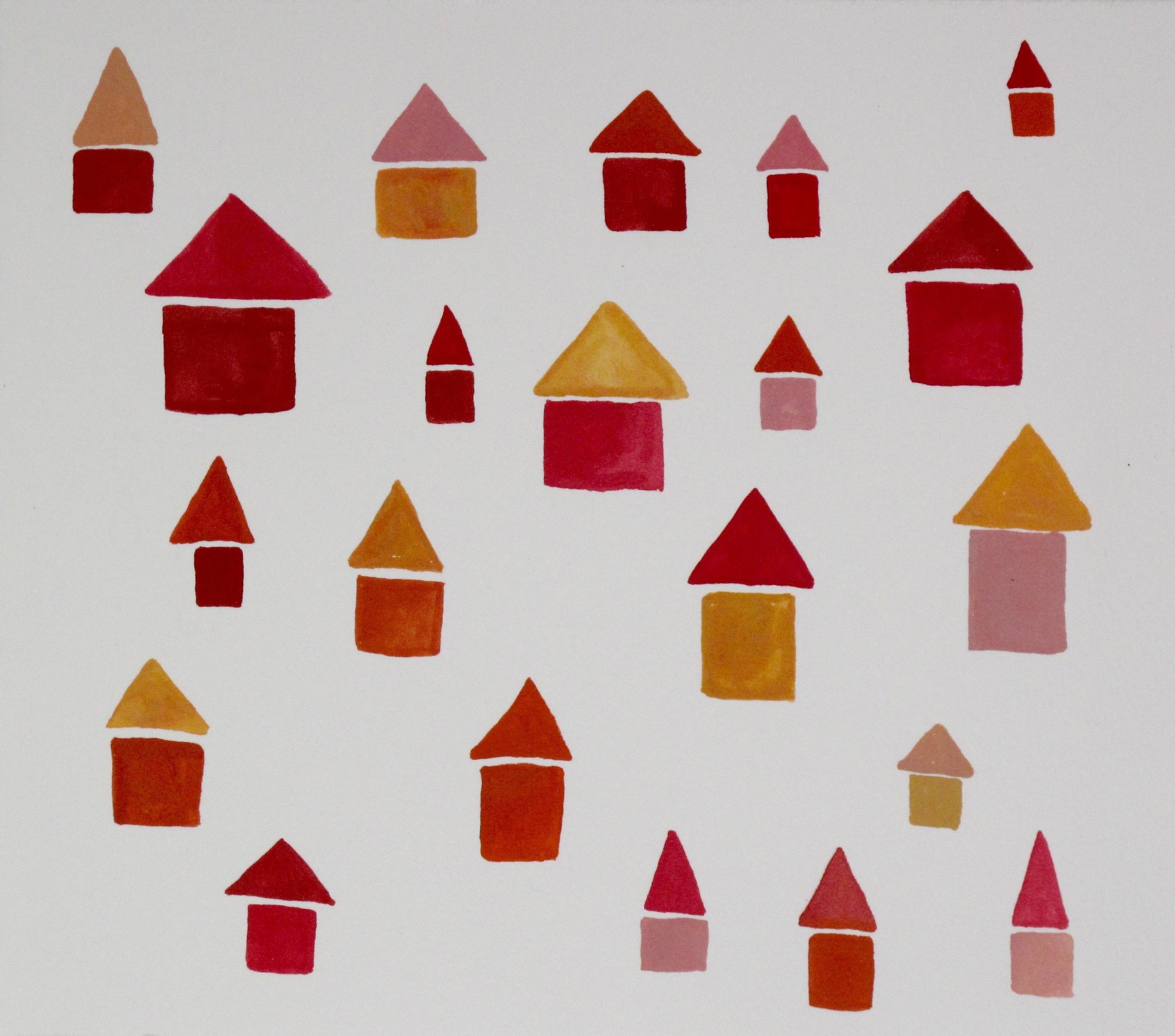 Citrus Houses. 2015 Gouache on Paper
