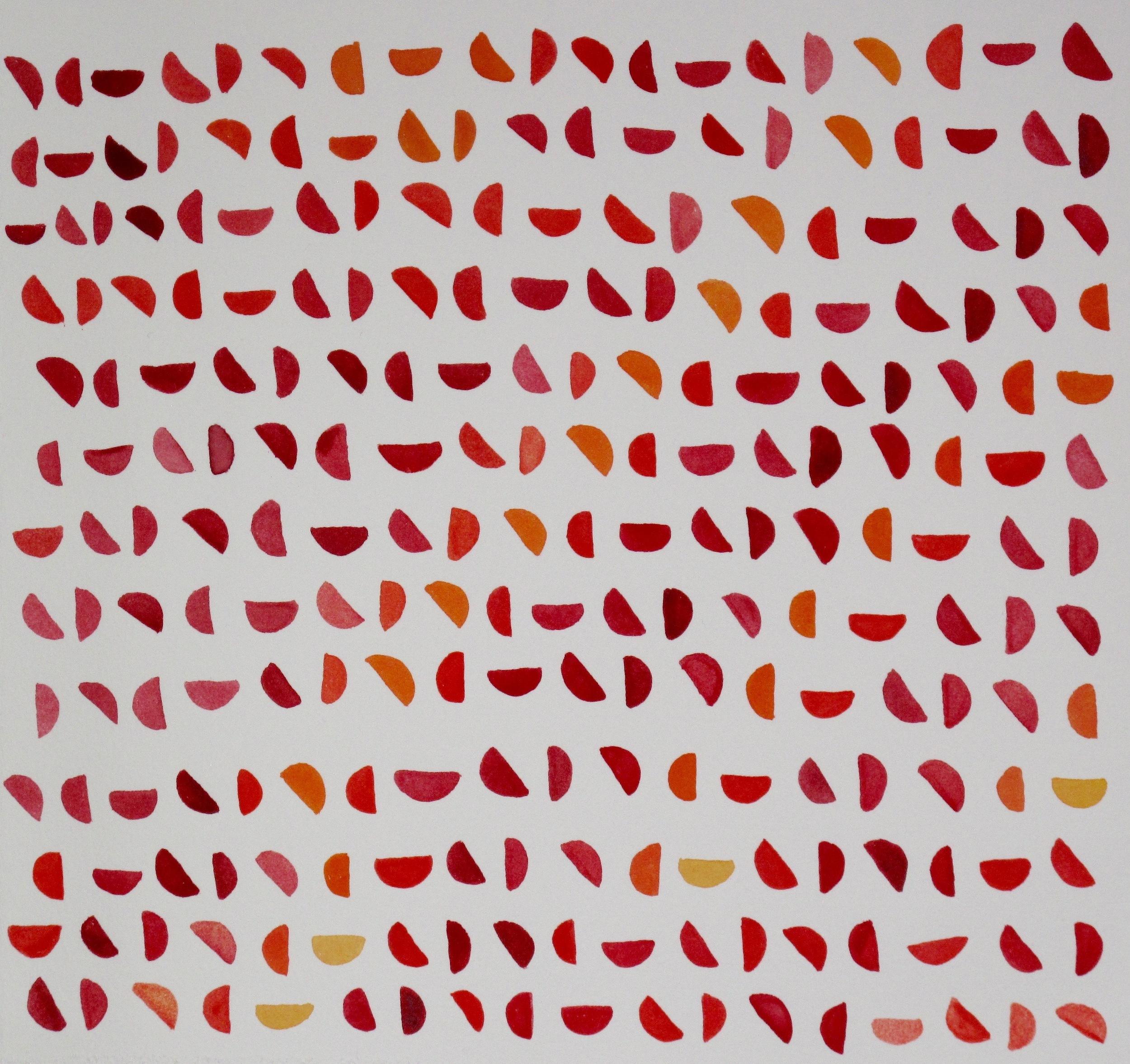 Citrus Moons. 2015. Gouache on Paper