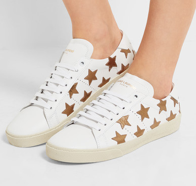 You cannot argue with star power. Or footwear by @SaintLaurent. We  may  have to pull out the cost-per-wear calculator here, but seeing how 2017 is unfolding - we have  a lot  of walking ahead of us.