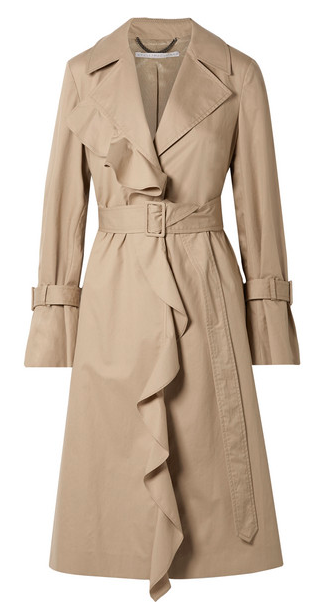 "Why do trench coats need to be ""borrowed from the boys""? This one was clearly ""borrowed from Financial Director Barbie"" and I LOVE IT / Coat:  Stella McCartney"