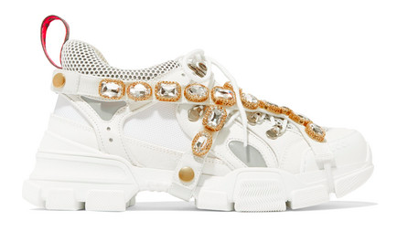 Comfort can ALSO be a girl's best friend. Diamonds don't suck, tho / Sneakers:  GUCCI