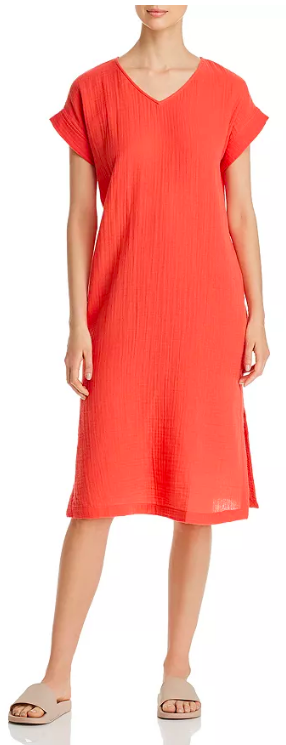 When its so 🔥the only thing allowed to touch you is the A/C vent - Dress  Eileen Fisher