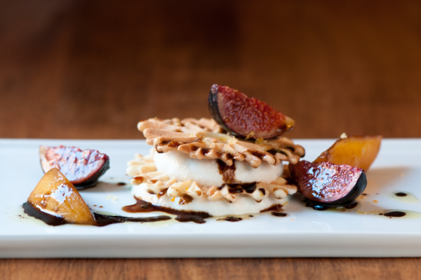 pizzele with abruzzi honey and black mission figs