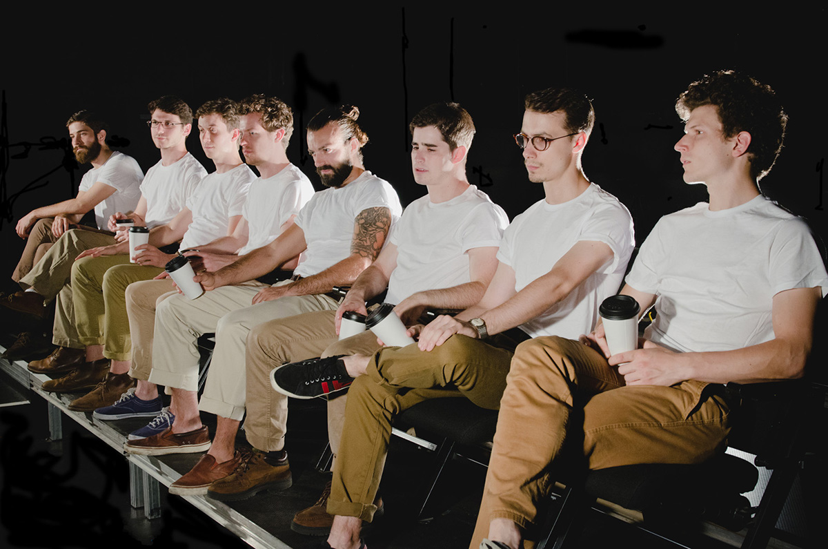 Promotional photography for  Salesmen: a meditation on masculinity and the American REAL! by Theater Reconstrucion Ensemble
