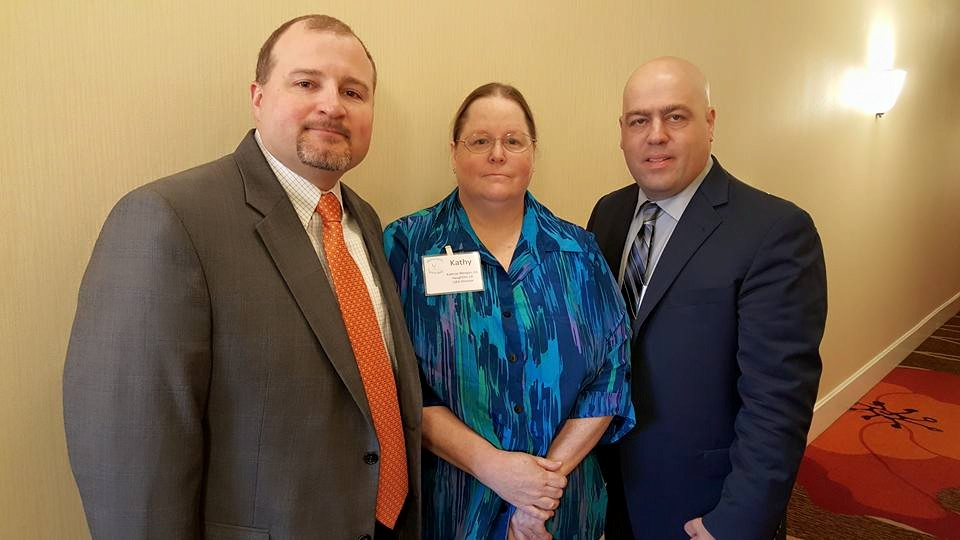 Left to right: Marc Dombrowski, Kathy Morgan and John Sheeley