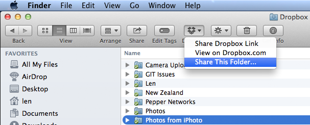 Sharing iPhoto Photos via Dropbox — Timebox Photo Circus 3D