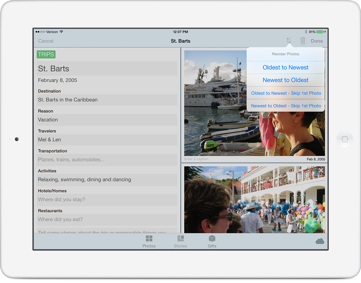 It's now easy to automatically reorder the photos in your story