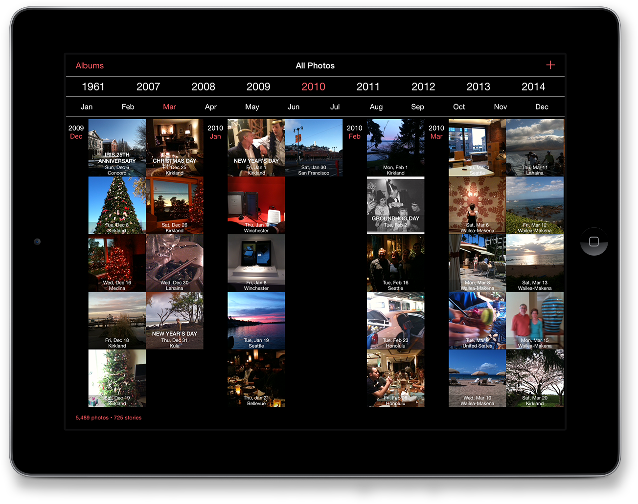 The new timeline user interface inTimebox 3.0.