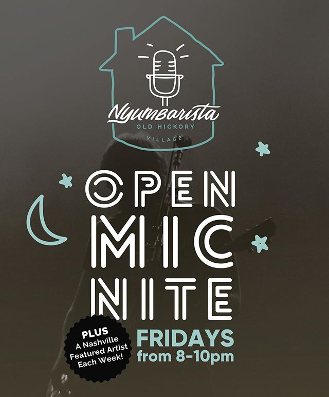 Our fave local coffee shop is hosting Open Mic Nites every Friday! Just tag @nyumbaristaohv on IG with a sample of your artistic performance to audition for a 4, 8, or 12 min time slot or send a quick video to events@nyumbarista.com so they can get you in the line up! We hope to see some of you guys there!  #nashvillemusician #music #nashvillesingersongwriter #nashvilleunsigned #nashville