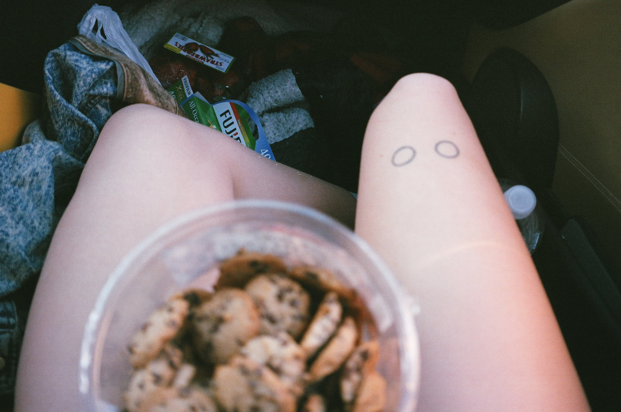 my legs and cookies.JPG