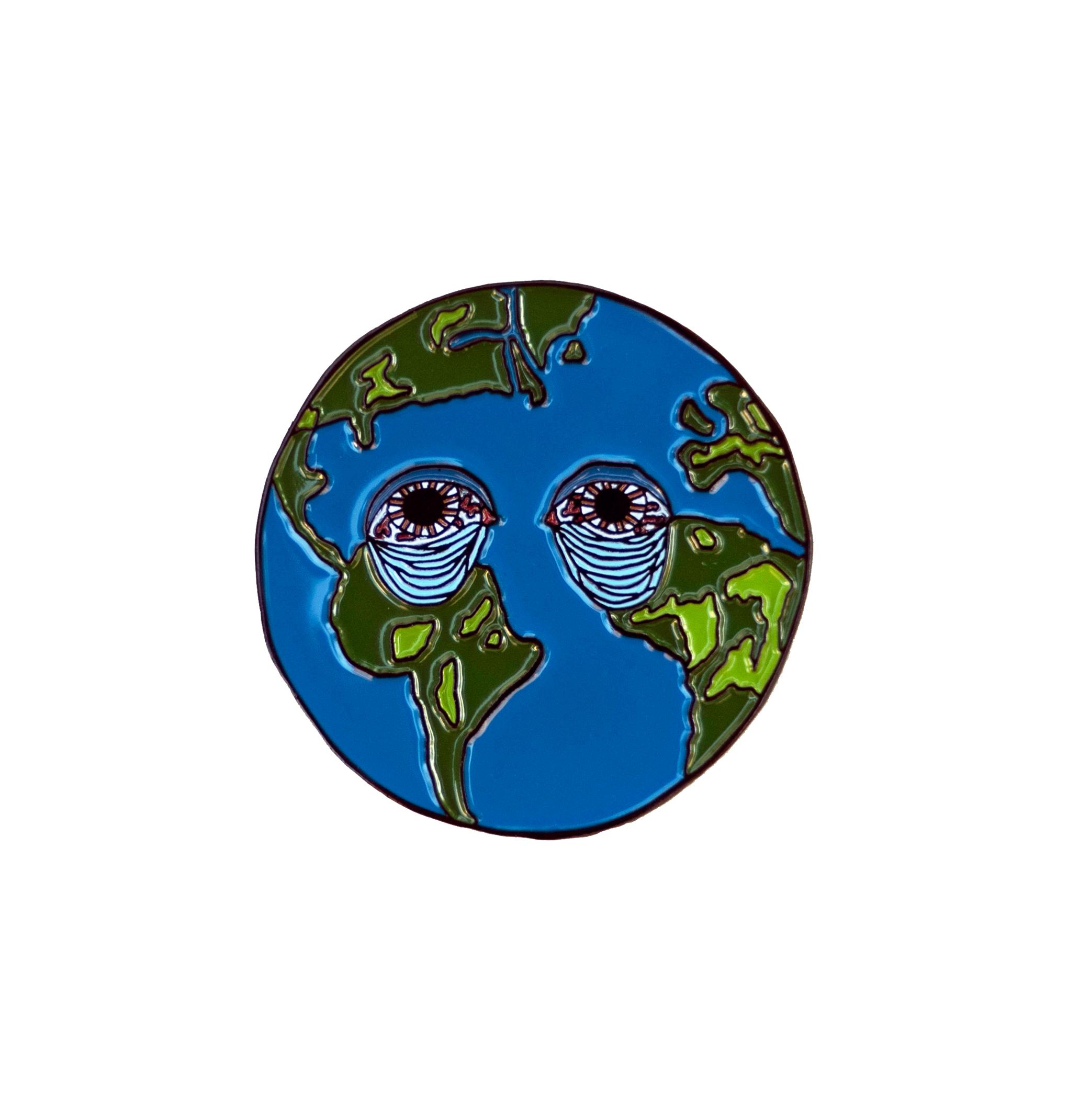 Sad Earth Enamel Pin  $10 (U.S. shipping included)