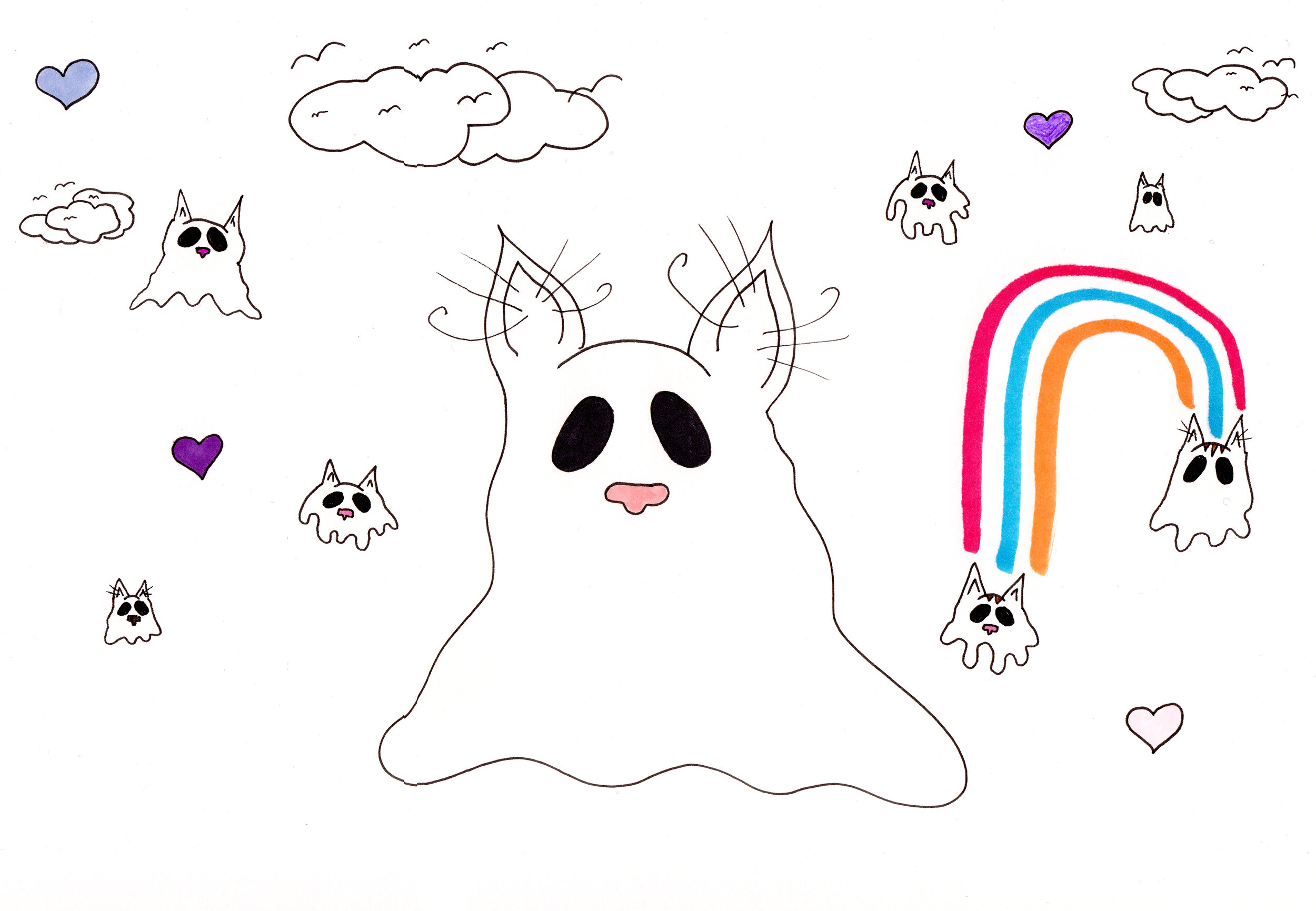 Kitten ghosts and hearts .jpg