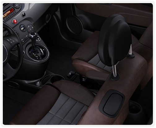 GREY INTERIOR WITH GREY/BROWN SPORT CLOTH SEATS (available on sport)