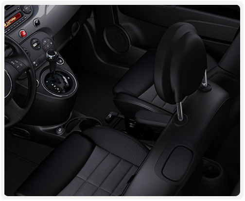 BLACK INTERIOR WITH GREY/BLACK CLOTH SPORT SEATS (available on sport)
