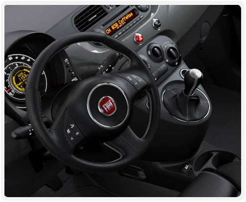 GREY INTERIOR WITH GREY/BLACK SPORT CLOTH SEATS (available on 500 sport turbo)