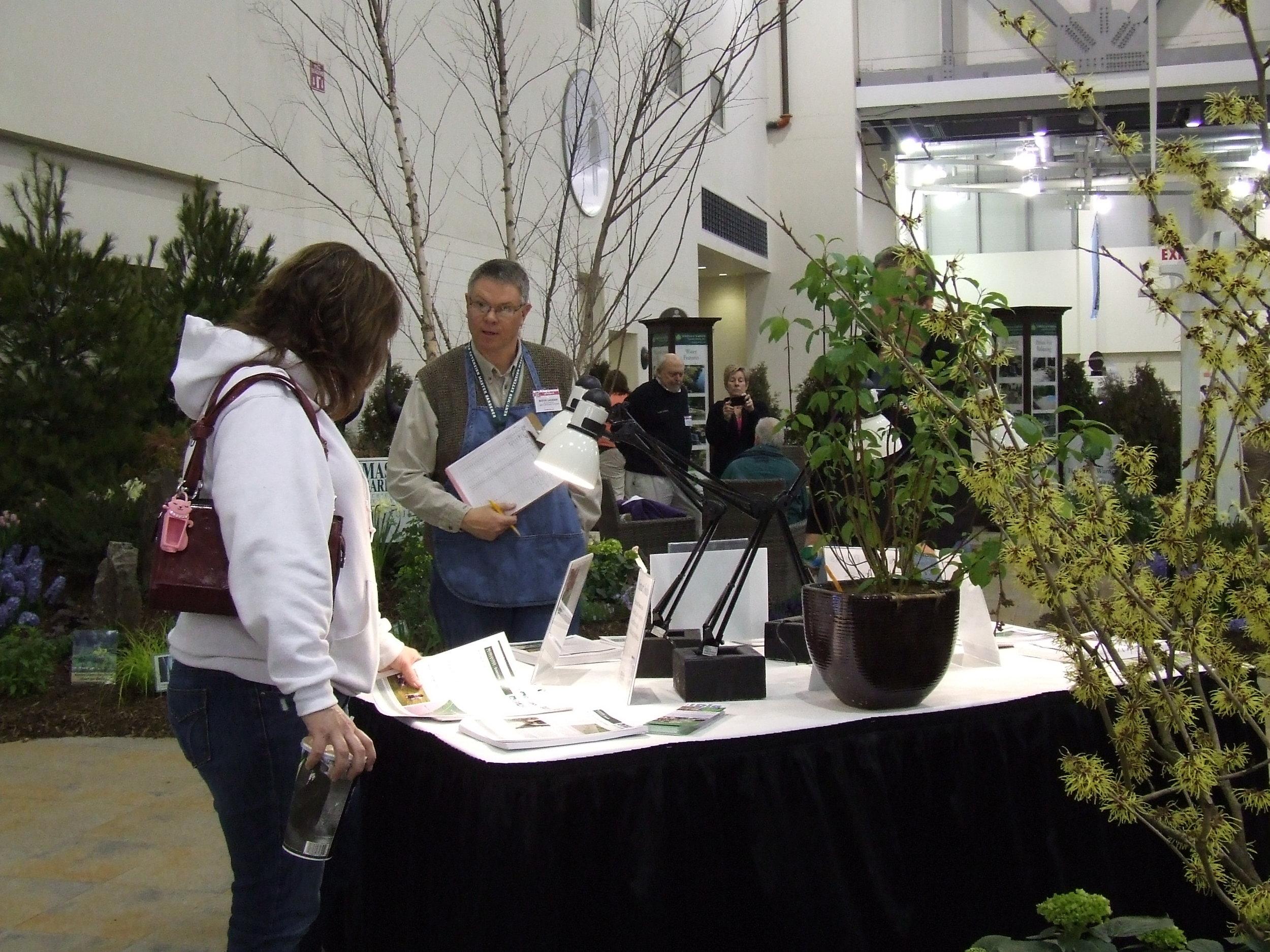 Master Gardener Smart Gardener Volunteer, Dan Davis at the Grand Rapids Home and Garden Show.
