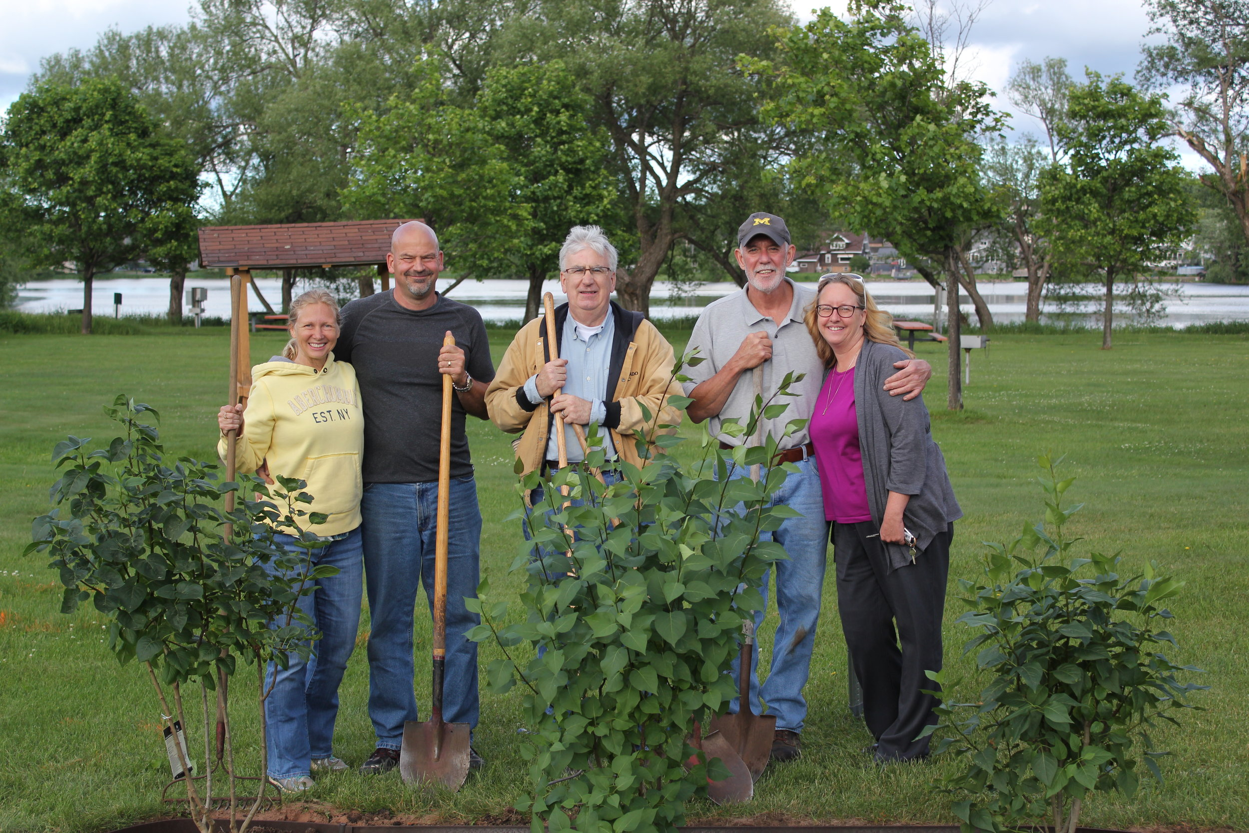 the rotary club is on board with the program--purchasing and planting lilacs