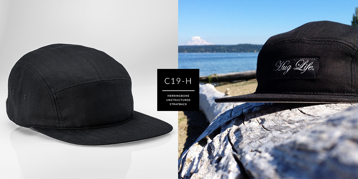 C19-H // Custom 5 Panel - Herringbone // Strapback