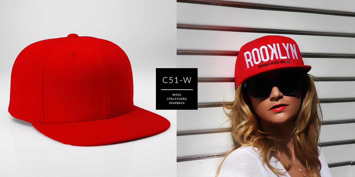 C51-W // 6 Panel - Wool // Snapback