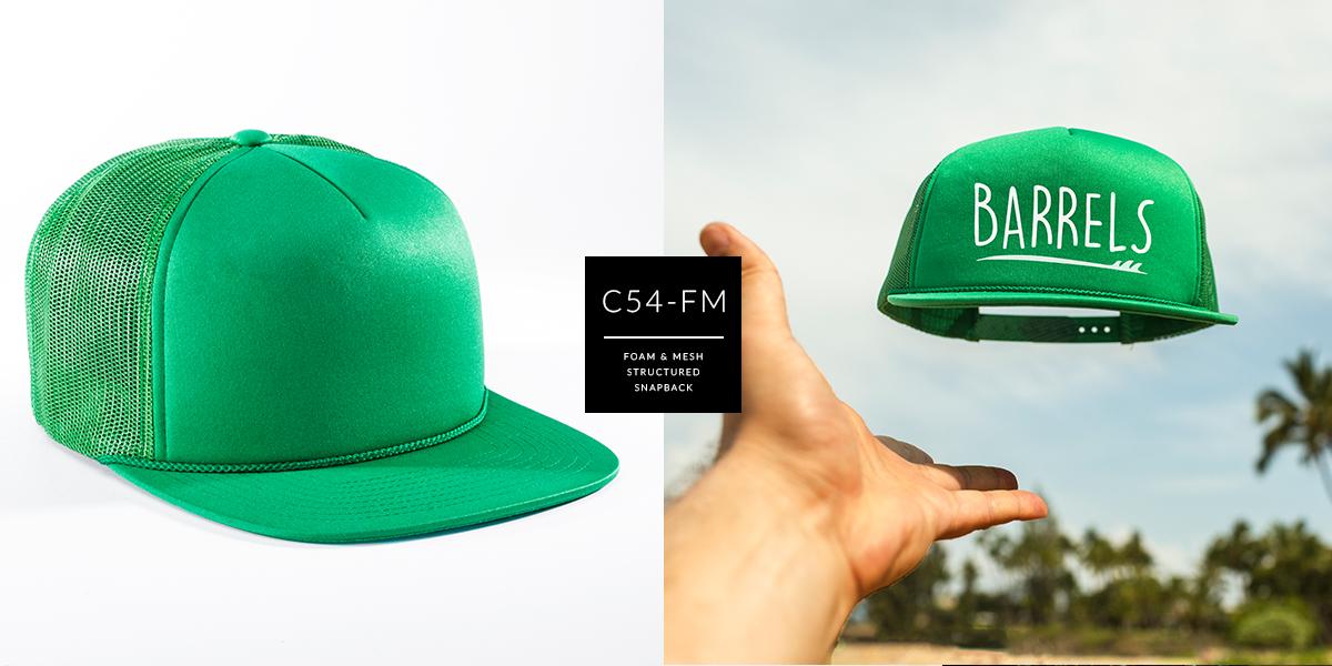 c54-FM // Pinch Front Trucker - Foam & Mesh // Custom