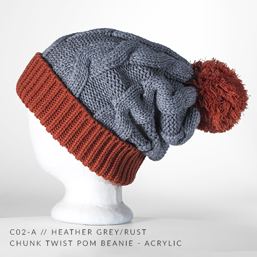 c02-A // Heather Grey & Rust