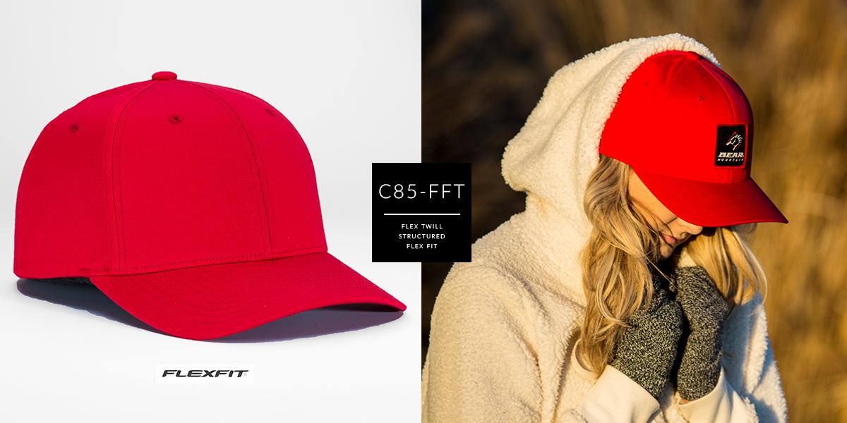 C85-FFT // Pre Curved Flex FIt - Flex Twill // OSFA