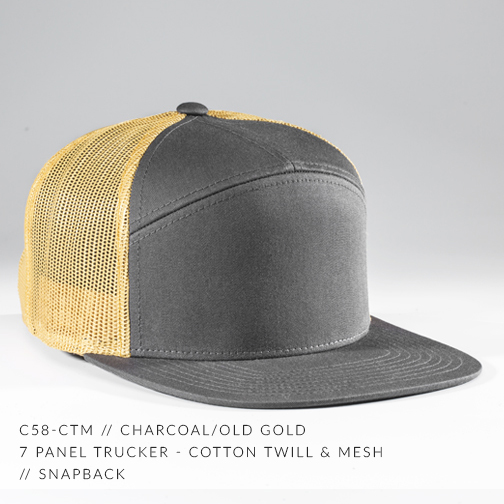 c58-CTM // CHARCOAL/OLD GOLD