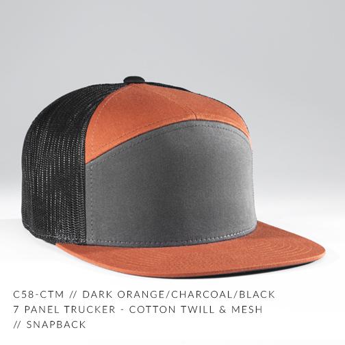 c58-CTM // DARK ORANGE/CHARCOAL/BLACK