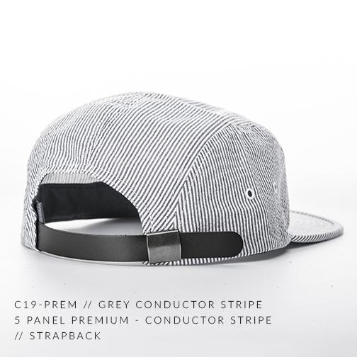C19-PREM // GREY CONDUCTOR STRIPE BACK