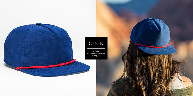c55-N // PINCH FRONT GRANDPA STRUCTURED - NYLON // CUSTOM SNAPBACK