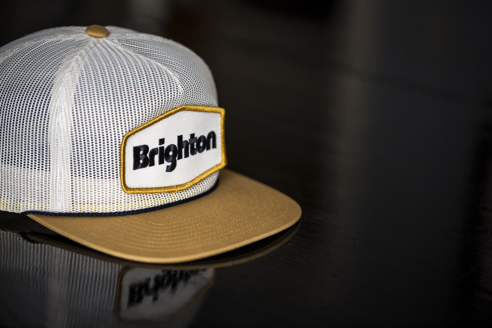 C54-MM Full Mesh Trucker Hat - Brighton Resort Embroidered Patch