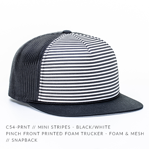 C54-PRNT // MINI STRIPES - BLACK/WHITE